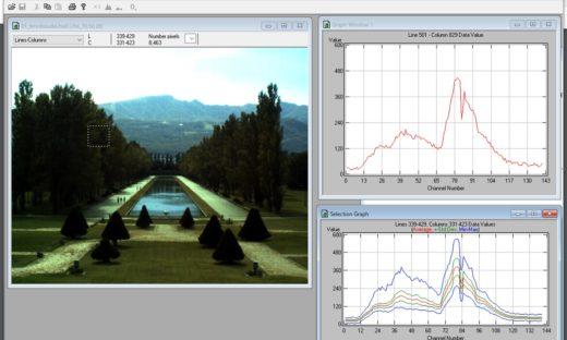 MultiSpec©によるハイパースペクトルデータの読込