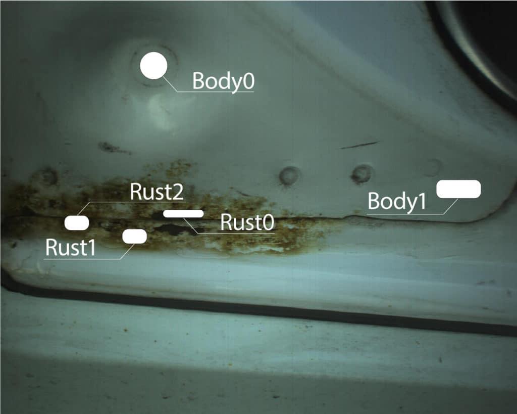 車両の錆発生具合を可視化:ハイパースペクトルカメラ