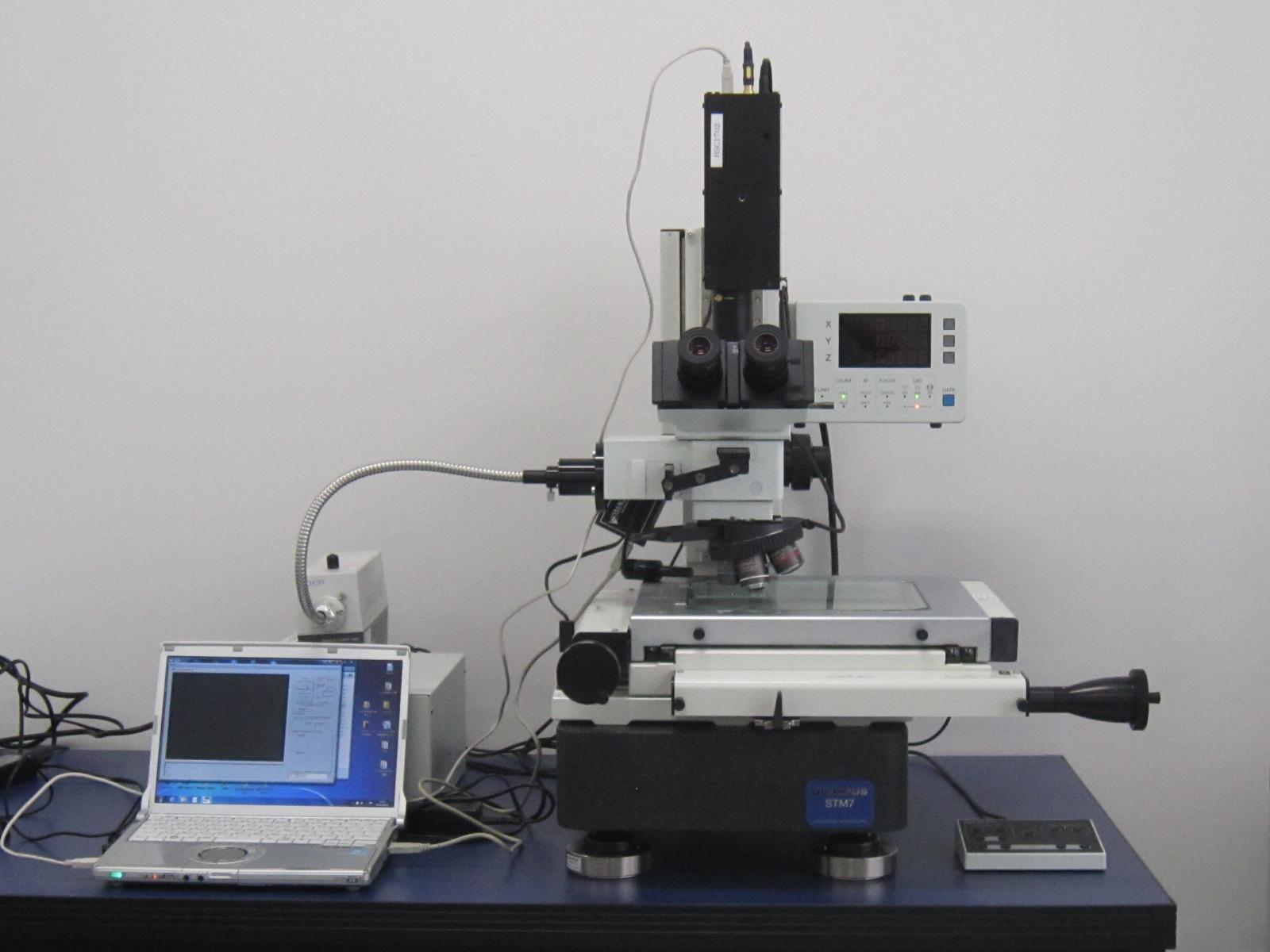 ハイパースペクトルカメラ 顕微鏡接続例